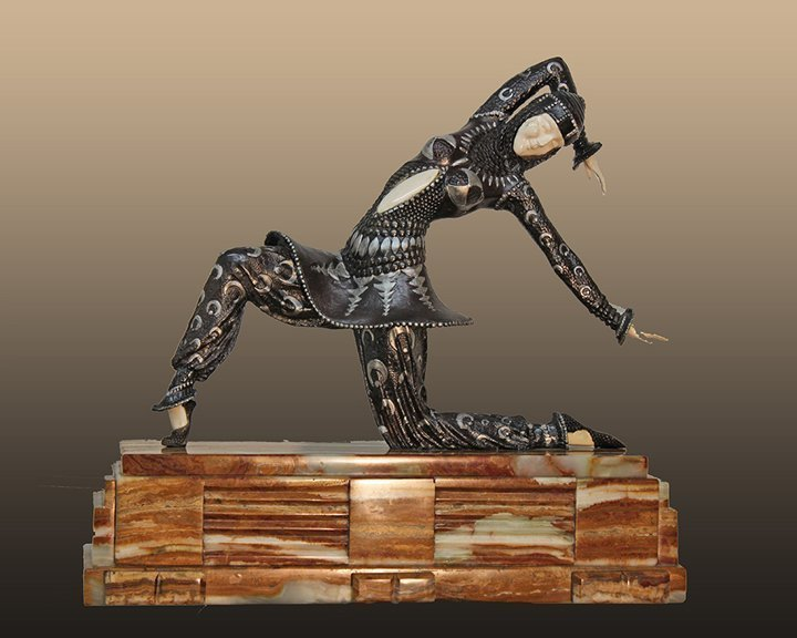 Chiparus Bronze Sculpture 20 Inches Tall
