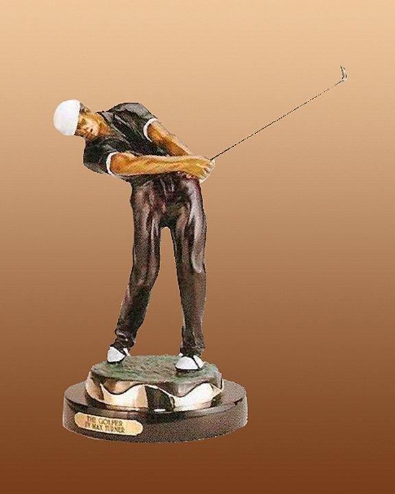 The Golfer Bronze Sculpture
