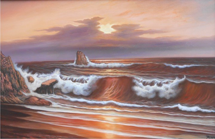 Red Sea-Oil on Canvas-Original Eugenio