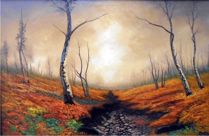 Autumn Clearing-Oil on Canvas-Original Eugenio