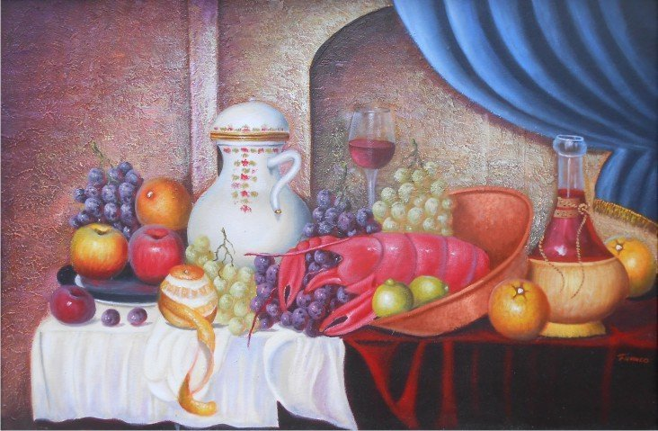 Delightful Feast-Oil on Canvas Original