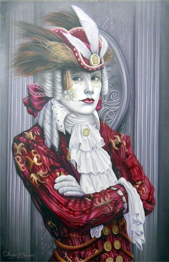 Masquerade-Oil on Canvas Original Sergio Guerrero
