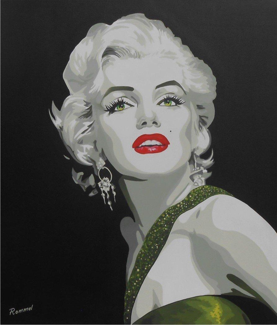 Emerald Green Marilyn Monroe by Rommel