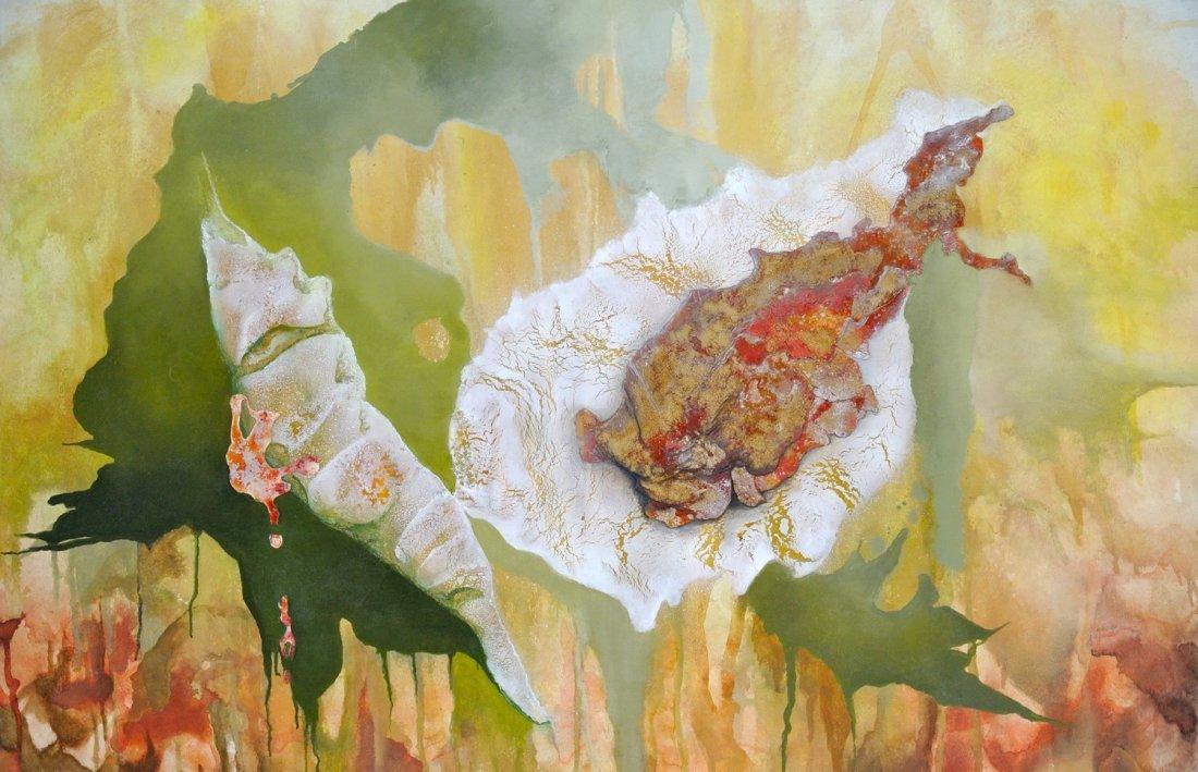Mixed Media on Canvas-Leonor Hochschild-Organic Artist
