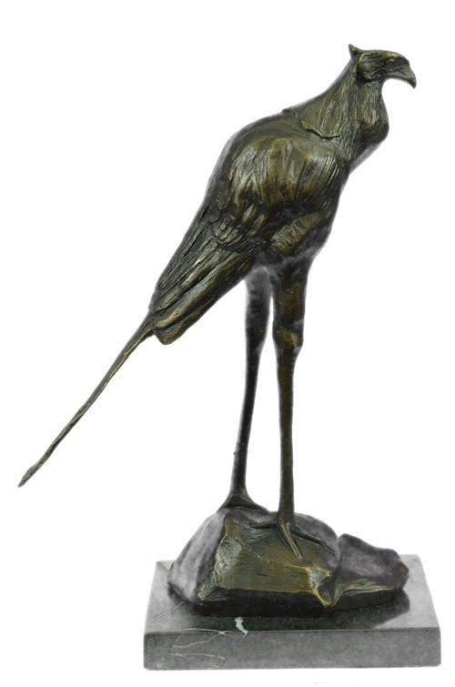 Wildlife Stork Bird Statue on marble base