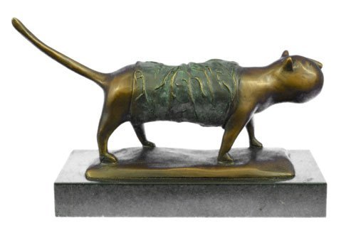 Fat Cat Modern bronze sculpture