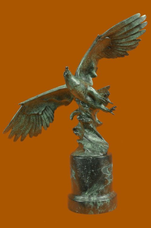 American Eagle Green Patina With Spread Wings Bronze