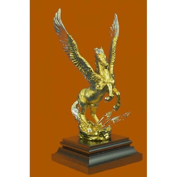 24K Gold And Silver Plated Pegasus Sculpture