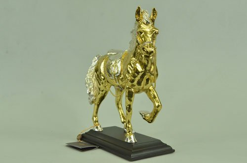 24K golden plated Wildlife horse Art Deco Style