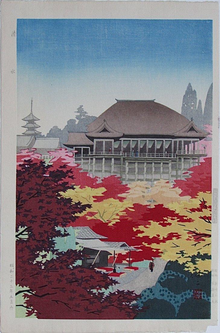 Kenji KAWAI, Kiyomizu Temple from 'Twelve Views of