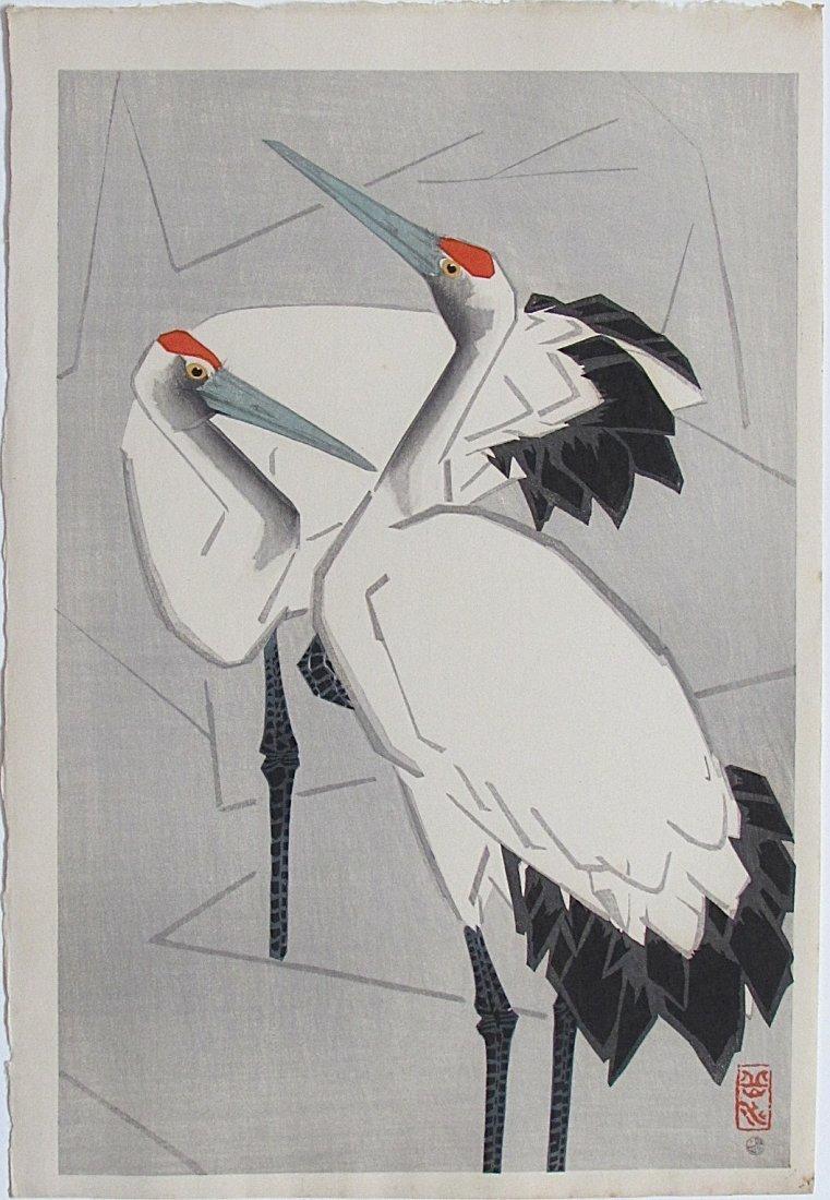 Ide GAKUSUI, Two cranes