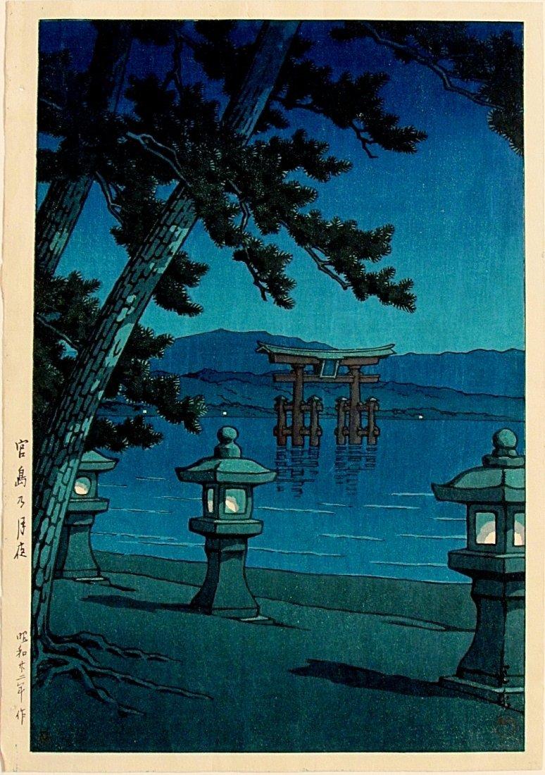 HASUI, Moonlit night at Miyajima