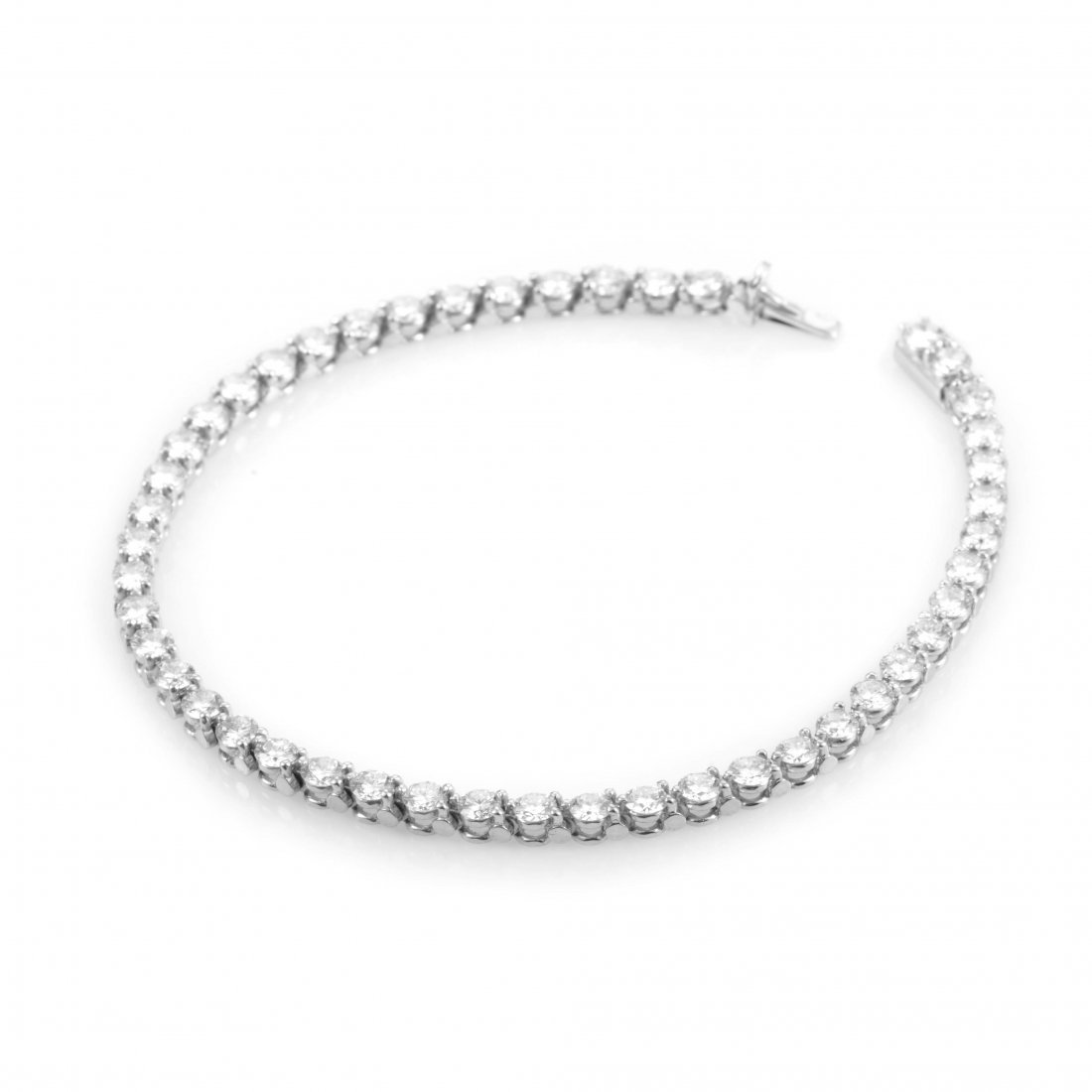 Cartier: Platinum & Diamond Tennis Bracelet