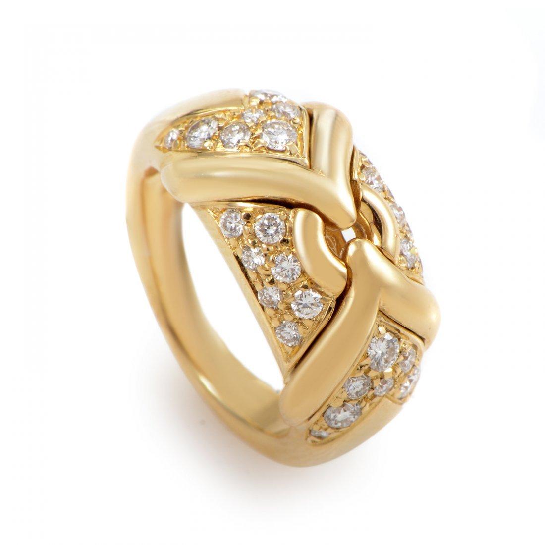 Bvlgari: Bvlgari 18K Yellow Gold Diamond Ring