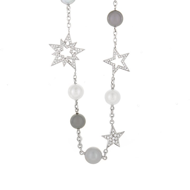 Chanel: Perles et Etoiles 18K White Gold Collar