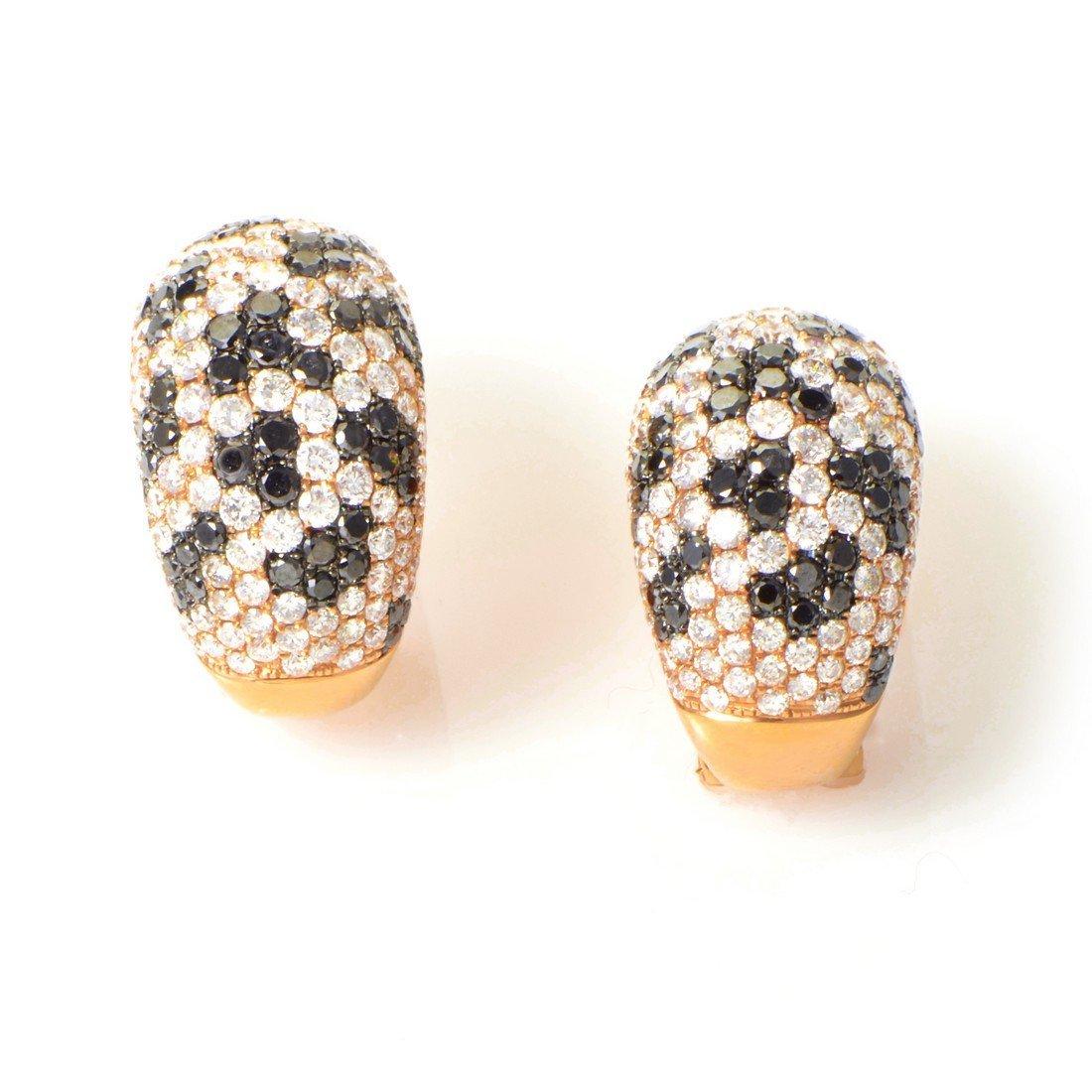 18K Rose Gold Multi Diamond Earrings CED8385