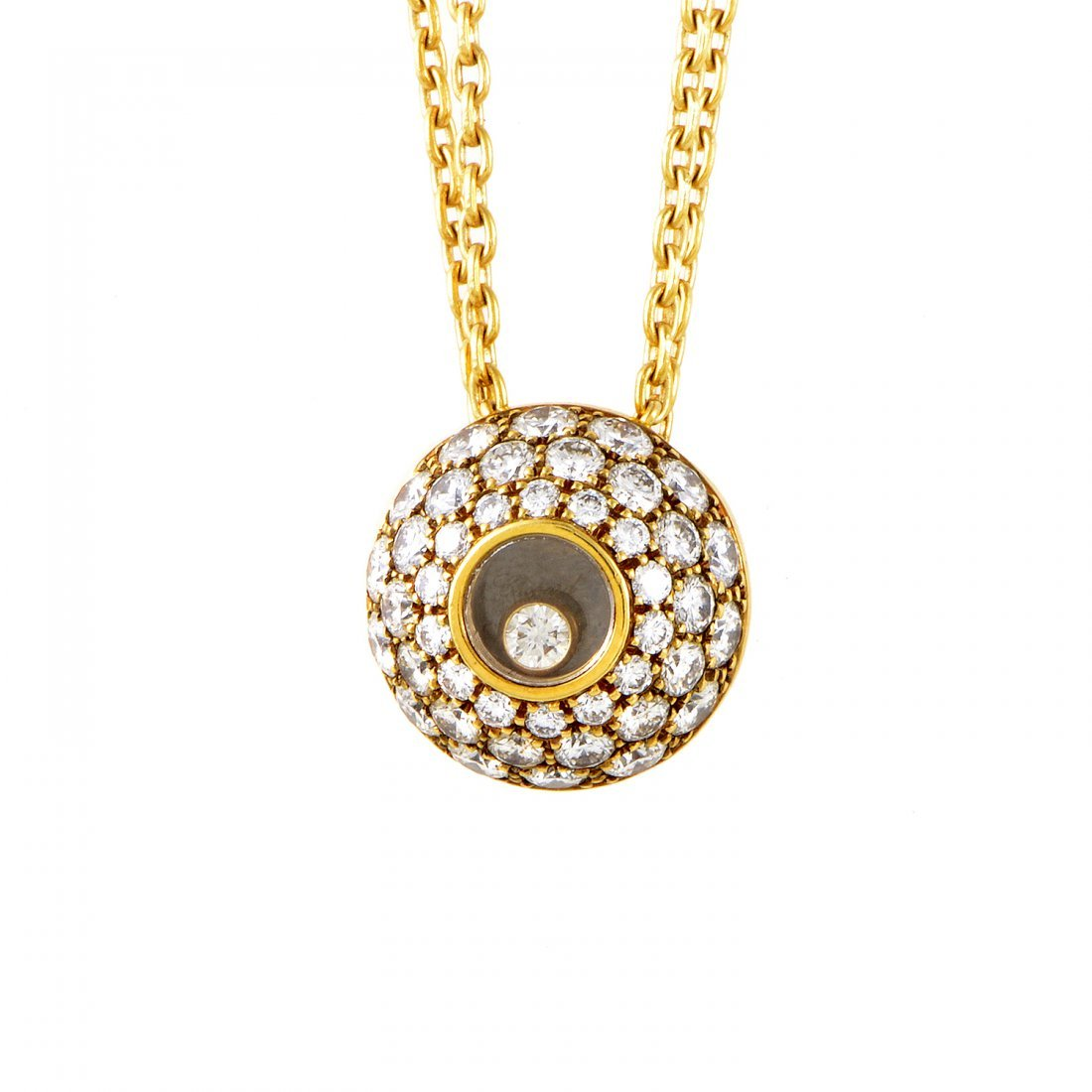 Chopard: Happy Diamonds 18K Yellow Gold Pendant