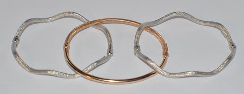 SET OF 3 GOLD BRACELETS TRICOLOR BY ROBERTO COIN