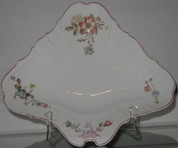 Unusual Antique Hand Painted French Porcelain Bowl