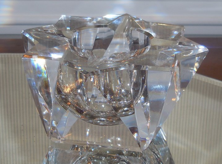 Rare Antique Art Deco St Louis French Crystal Ashtray