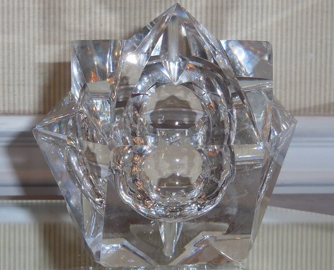 Rare Antique Art Deco St Louis French Crystal Ashtray - 3