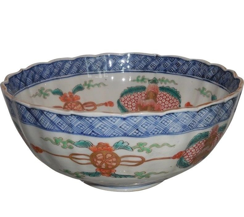 Rare Antique Early 19th C Japanese Imari Porcelain Bowl