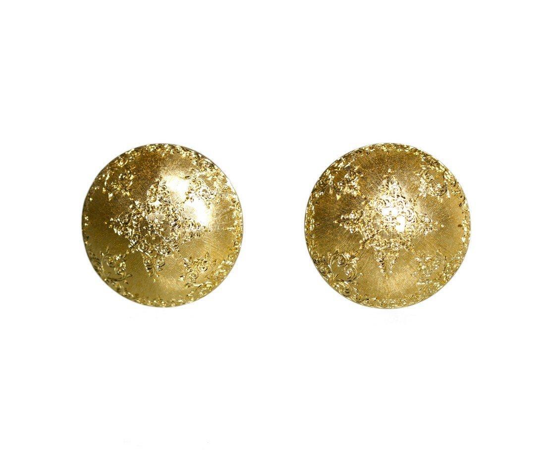 Pair of 18 Karat Gold EarClips by Mario Buccellati