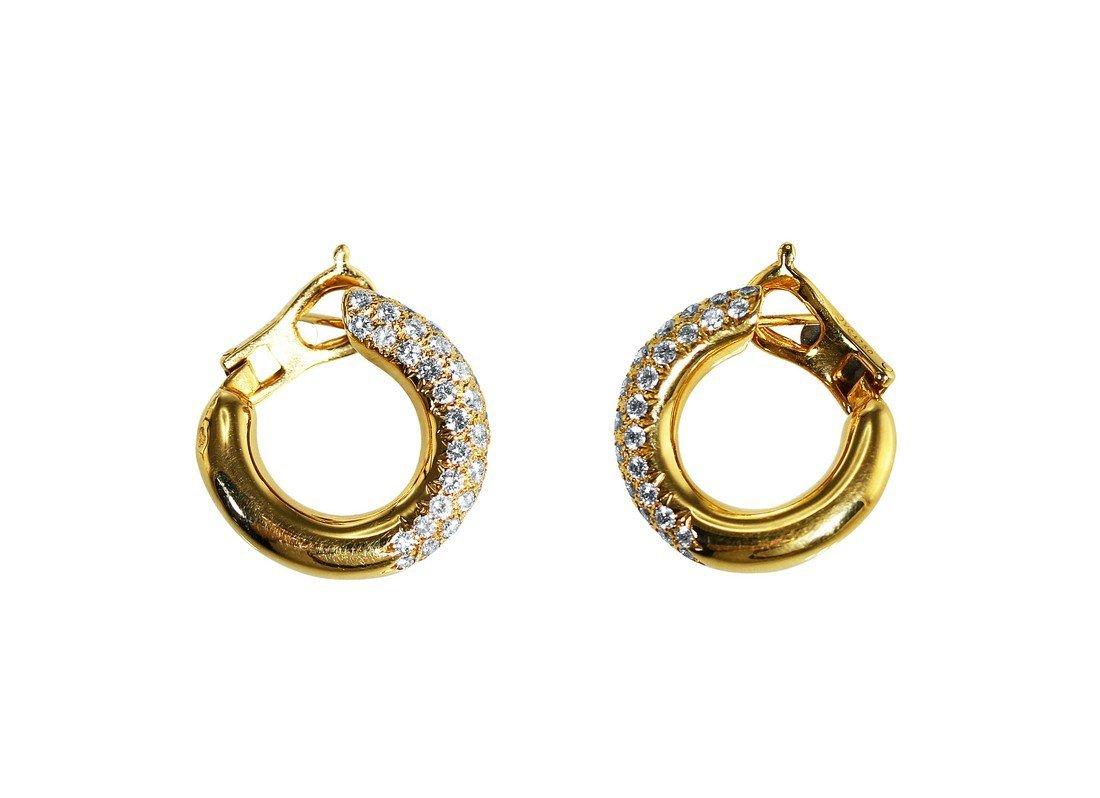 18 Karat Gold Diamond Earrings by Van Cleef & Arpels