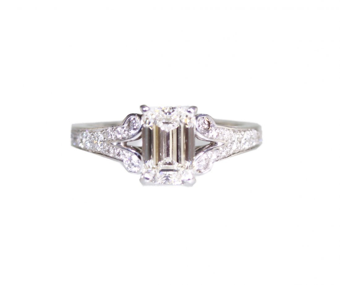 Platinum and Diamond Engagement Ring by Cartier