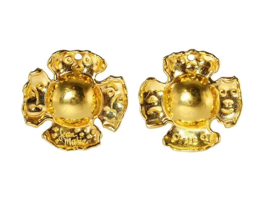22 Karat Yellow Gold EarClips by Jean Mahie