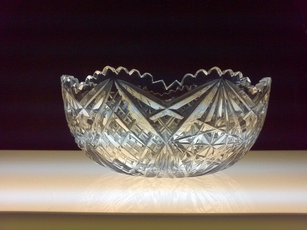 """8"""" Antique Hand Cut Bowl Brilliant Period 1886 - 1915"""