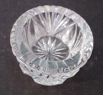 ABP American Brilliant Period hand Cut Glass salt dip