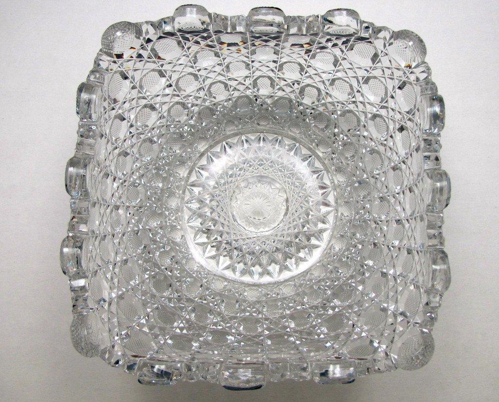 ABP cut glass square bowl American brilliant period