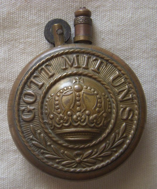 Great Large WWI Trench Art Lighter from German Belt