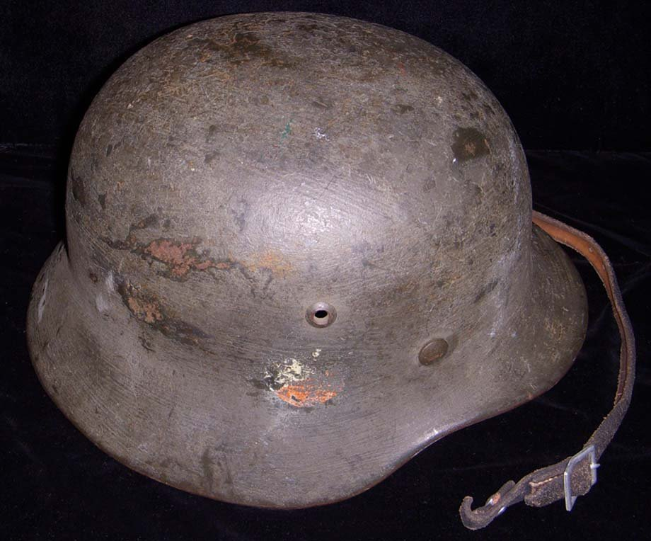 M 1935 Nazi Army Double Decal Helmet in Grass Green