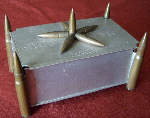 "WWII German POW ""Trench Art"" Box From Prisoner War"
