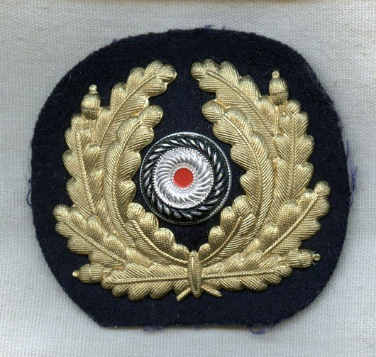 Nazi Navy CPO Metal Hat Wreath as Used on U-Boats