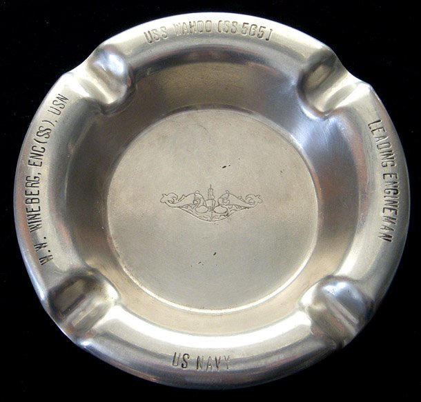 Korean War Era USS Wahoo (SS-565) Named Ashtray