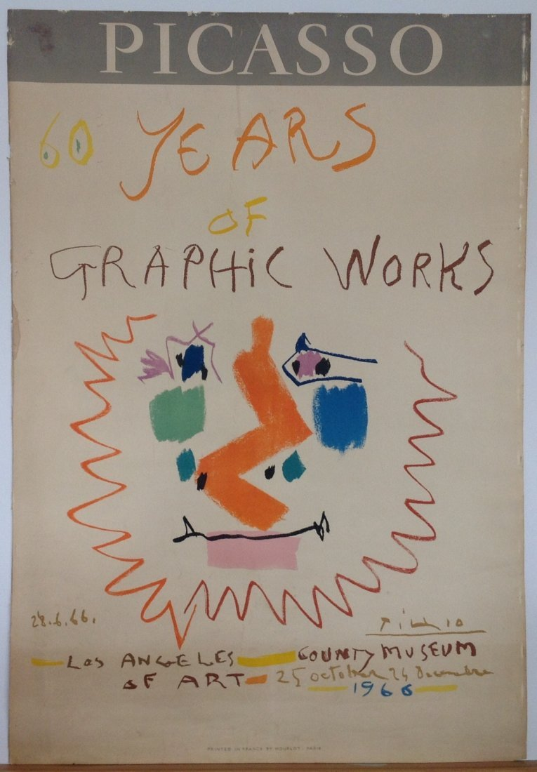 """Picasso - 1966 """" 60 Years of Graphic Works"""" lithograph"""