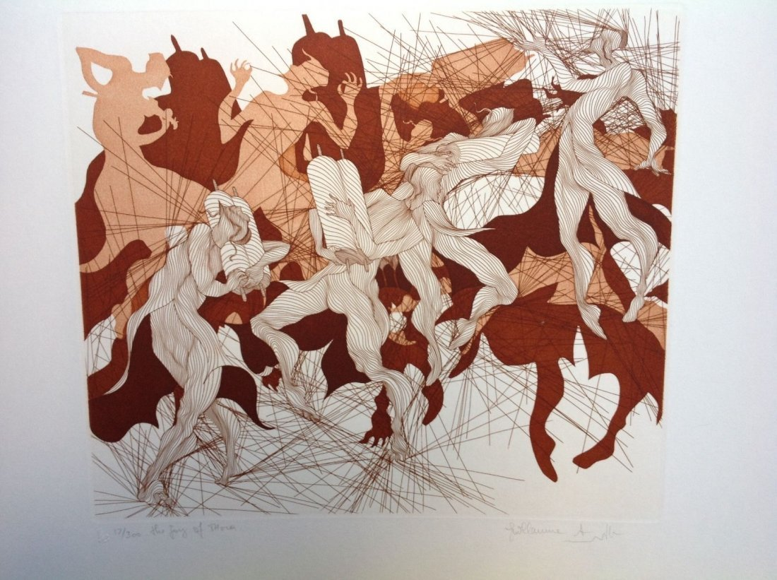 Guillaime Azoulay - THE JOY OF TORAH etching