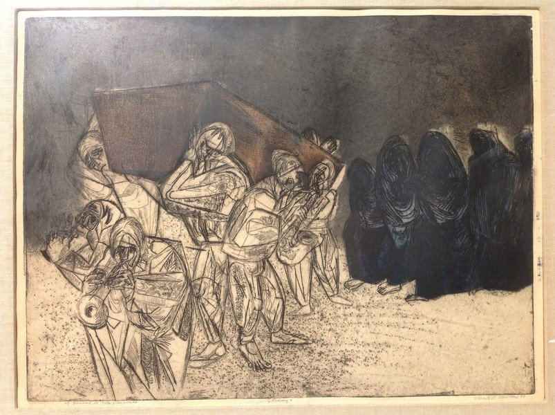 Vincent P. Rascon -(passed away in 2012) Etching 1959,