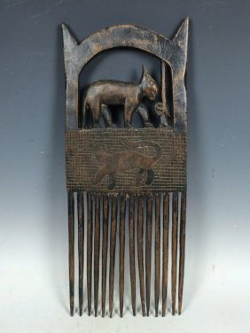 Carved Wooden Combs