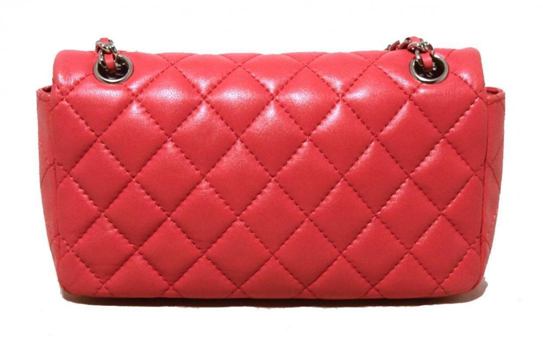 Chanel Dark Pink Quilted Classic Extra Mini Flap - 2