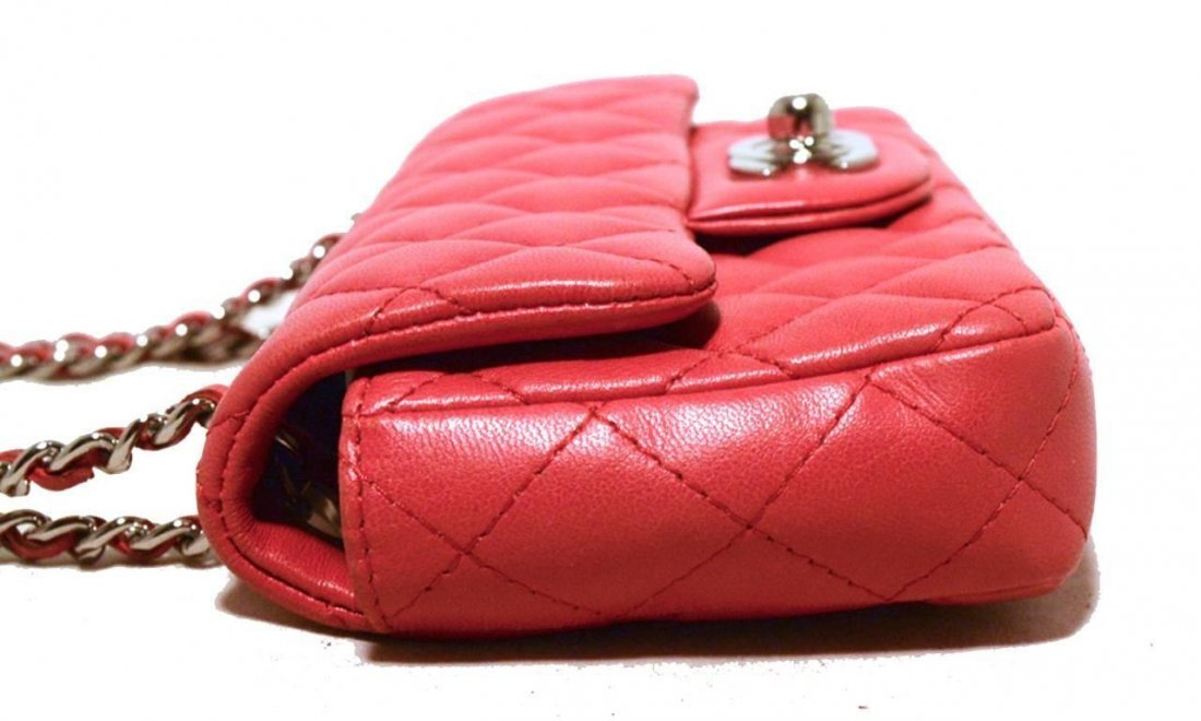 Chanel Dark Pink Quilted Classic Extra Mini Flap - 3