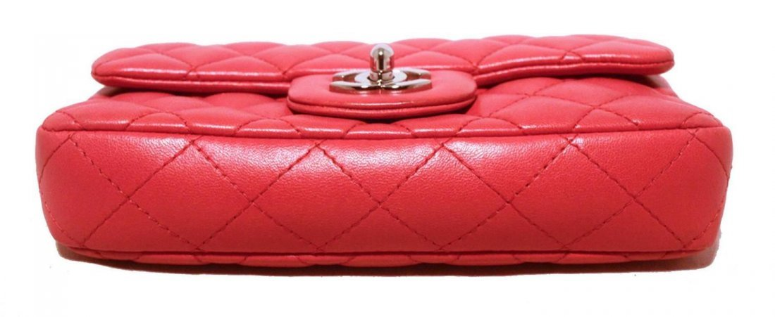 Chanel Dark Pink Quilted Classic Extra Mini Flap - 4