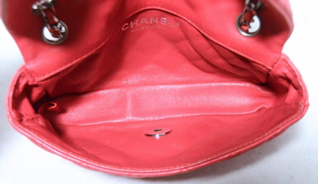 Chanel Dark Pink Quilted Classic Extra Mini Flap - 5