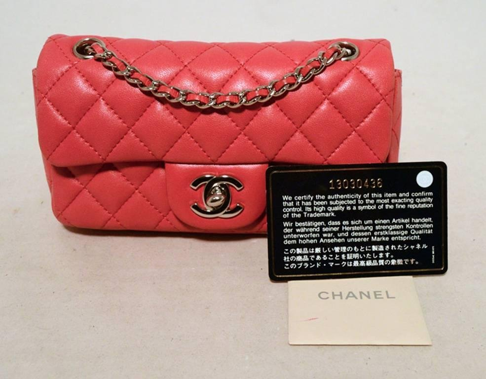 Chanel Dark Pink Quilted Classic Extra Mini Flap - 6