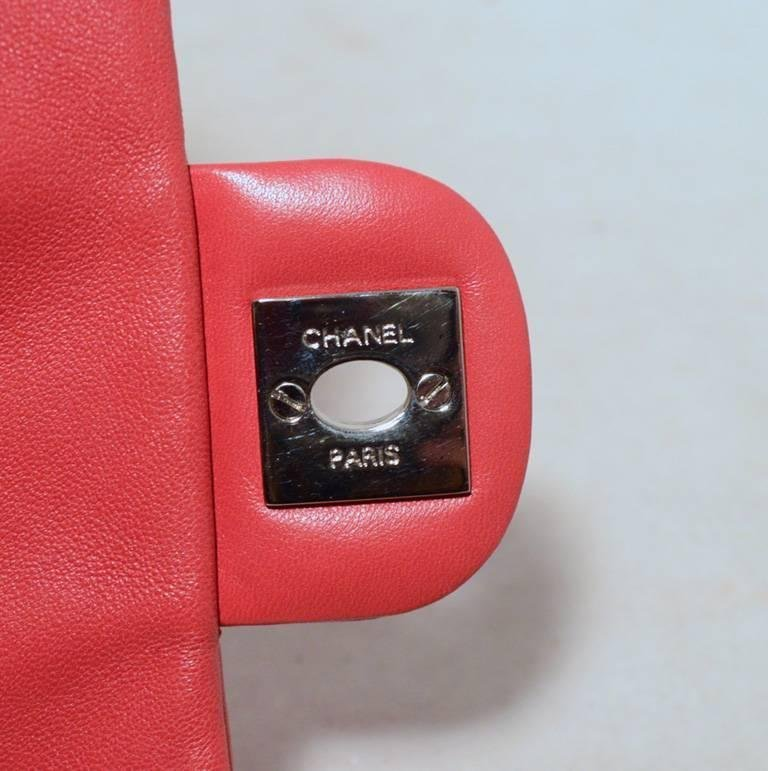 Chanel Dark Pink Quilted Classic Extra Mini Flap - 7