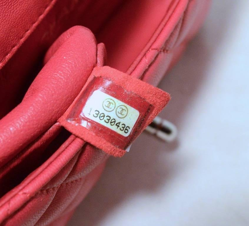 Chanel Dark Pink Quilted Classic Extra Mini Flap - 9
