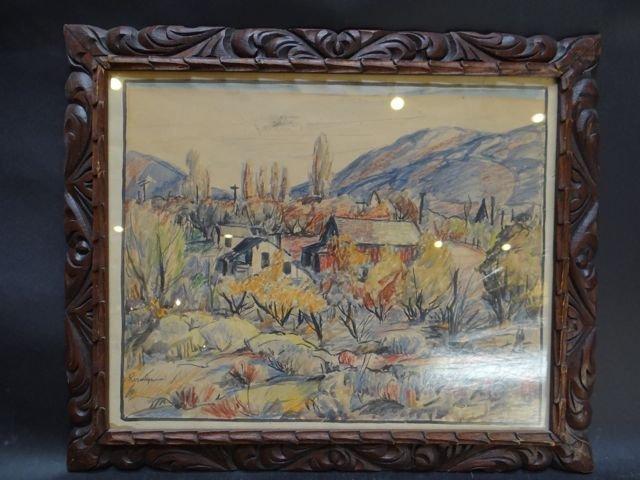 Desert Watercolor by Howell Rosenbaum P677